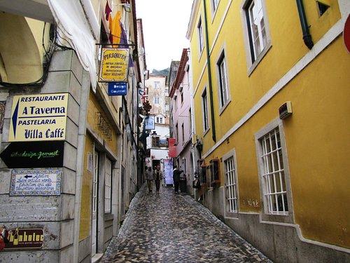 As ruas de Sintra...