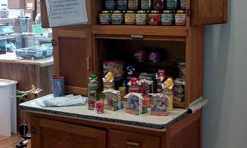 Cute cupboard display of candles