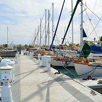 Sailing boats at Marina Cortez