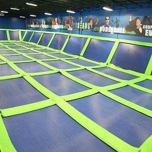 Gigantic Indoor Trampoline Arena!