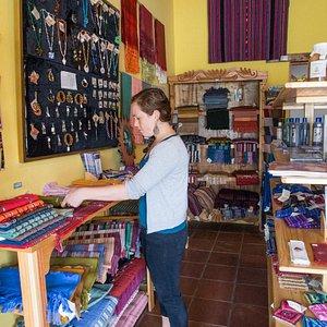 Fair trade store and volunteer