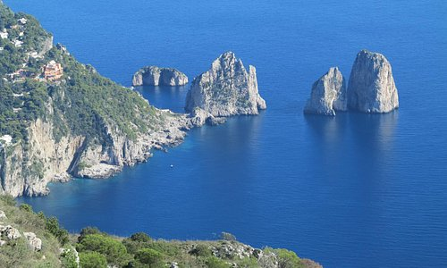 Capri's Blue Grotto from the top of the island