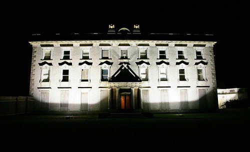 Loftus Hall at night...