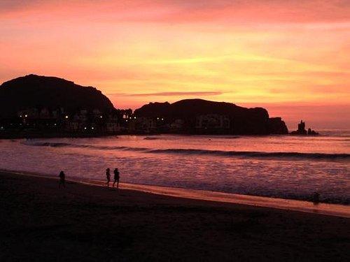 Sunset at Cerro Azul.
