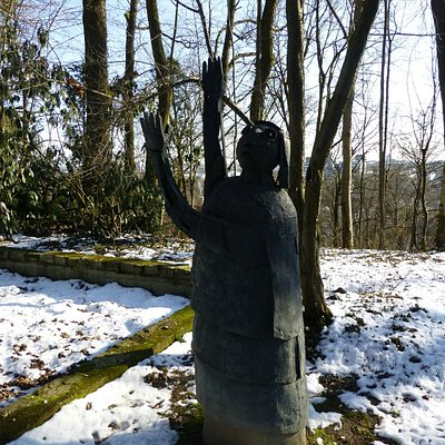 """2013-03 """"Moses"""" (1968), Heinrich Kirchner (1902 – 1984), Skulpturengarten Erla"""