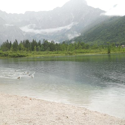 View of Almsee during summer season but cloudy..