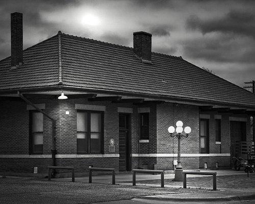 Granbury Train Depot At Night