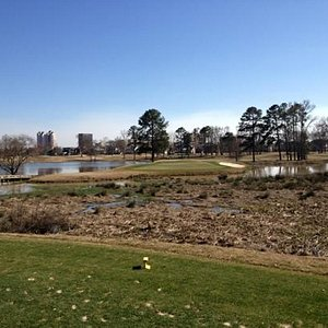 Hole 17 over the water