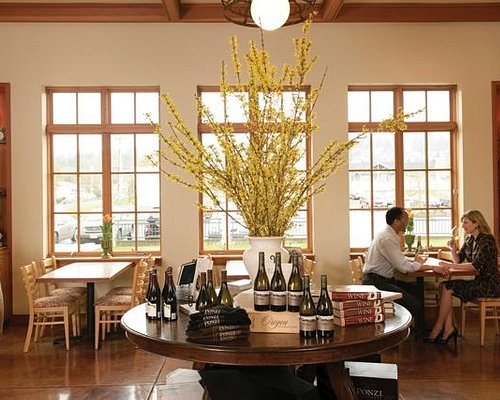 Rotating flights of Ponzi and guest wines plus a light fare menu available daily.