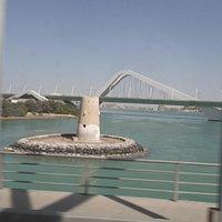 fort Al Maqtaa , au fond le pont Sheikh Zayed