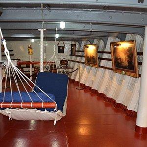 Donde Dormian los Marinos durante la navegación