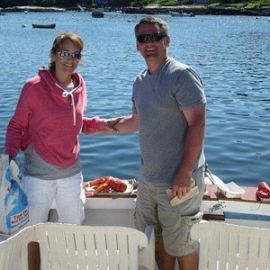 Lobster in the rough with HAYVAL Charters ini Boothbay Harbor Maine