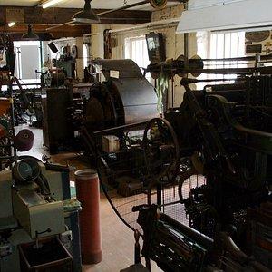 Weaving machinery exhibits.