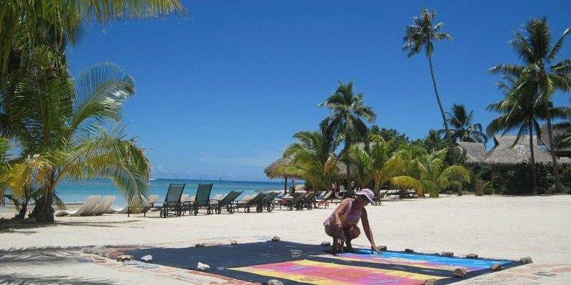 Activité Pareo perso sur la plage de l'Intercontinental de Moorea de 9 h à 13 h, météo parfaite