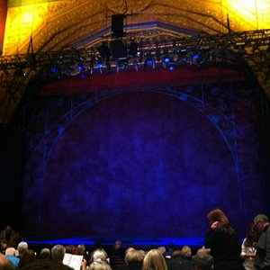 Good view of the stage from the seats.