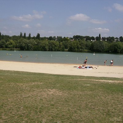 swimming area and beach