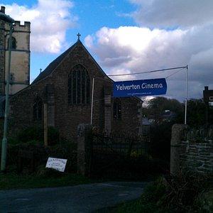 St Paul's church and village cinema Yelverton.