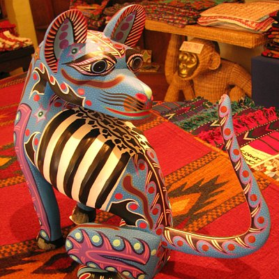 Beautifully carved and painted dog.