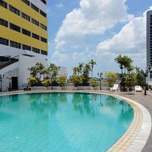 Pool in der 7. Etage