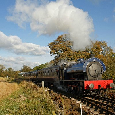 Steam train at Foxfield Railway