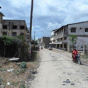 Side street to Malindi town cente