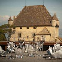 Vue du Chateau depuis notre Terrasse Panoramique