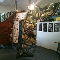Giant Knitted Cardigan at Pendre Arts, cardigan Town