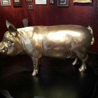 Gold Pig Statue