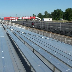 Looking down the 1/4 mile track
