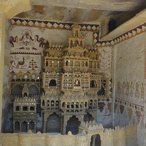 Haveli model diaplyed at Folklore Museum, Jaisalmer