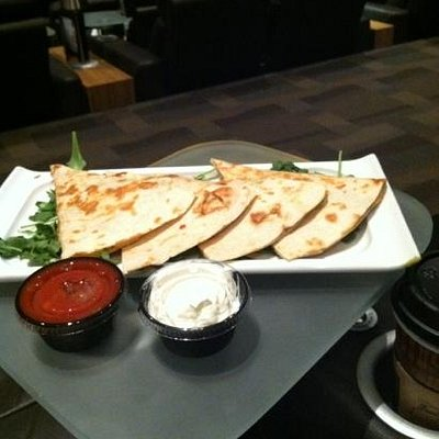 quesadillas: dine while viewing movie