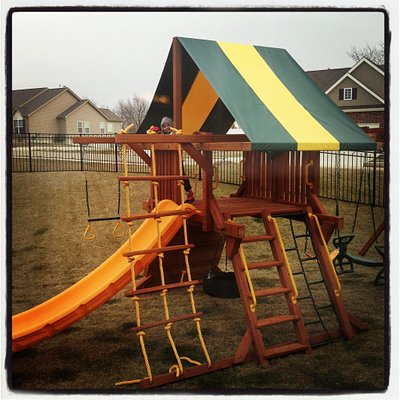Our playset at home that we our bought at Dream Play Rec