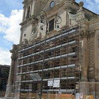Cattedrale di San Giovanni a Ragusa: la facciata in restauro