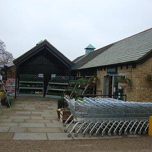 Entrance to the farm shop