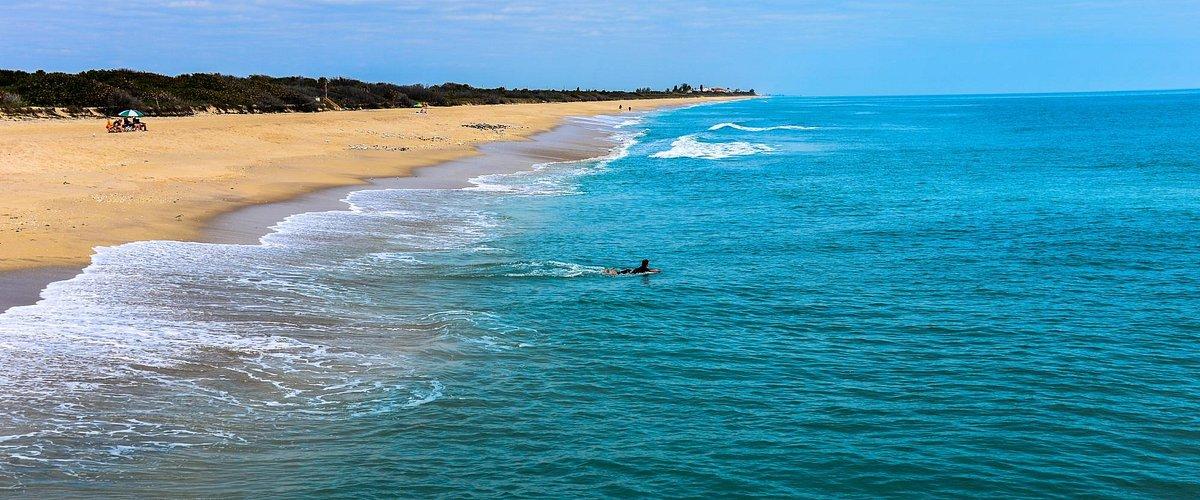Atlantic Ocean Beach at Sebastian Inlet State Park Florida