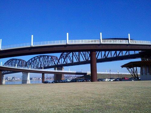 The Big Four Bridge from below!
