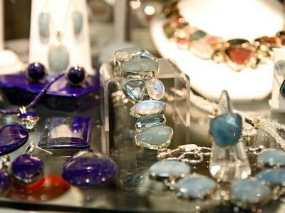 Aquamarine and Lapis Jewelry in Sterling Silver