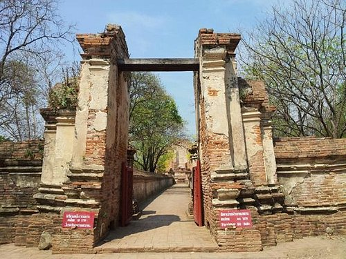 entrance to the ruins