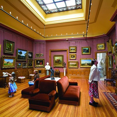 Interior of the Arnot Art Museum showcasing their unique 1890's Picture Gallery.