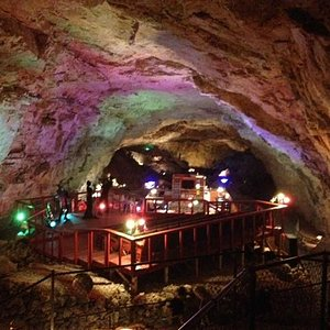 This is the room in the cavern that you can spend the night in.