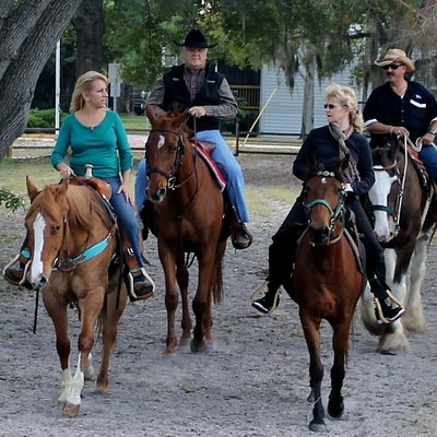 Bring your friends horse back riding for a different experience, that will allow for conversat
