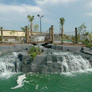 Waterfall in putt putt area