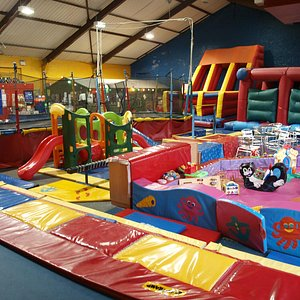 Lots of inflatables and trampolines for endless bouncing fun!!!
