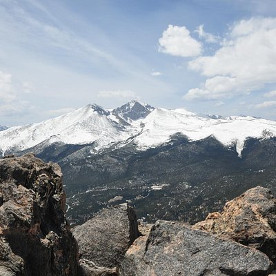 View of Longs Peak from the summit