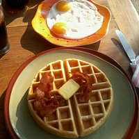 Start your day with Belgian waffle breakfast :-)