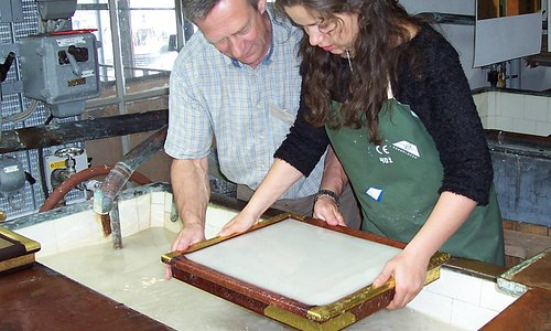 Learning the art of making paper