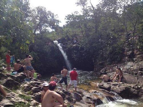 Visão de uma das seis cachoeiras