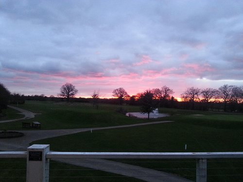 Sunset from clubhouse.