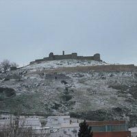 Vista del castillo de Aracena desde el mesón