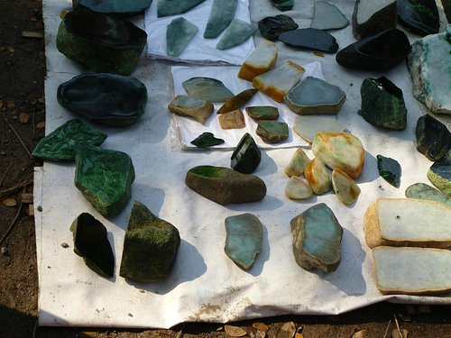selection of jade stone